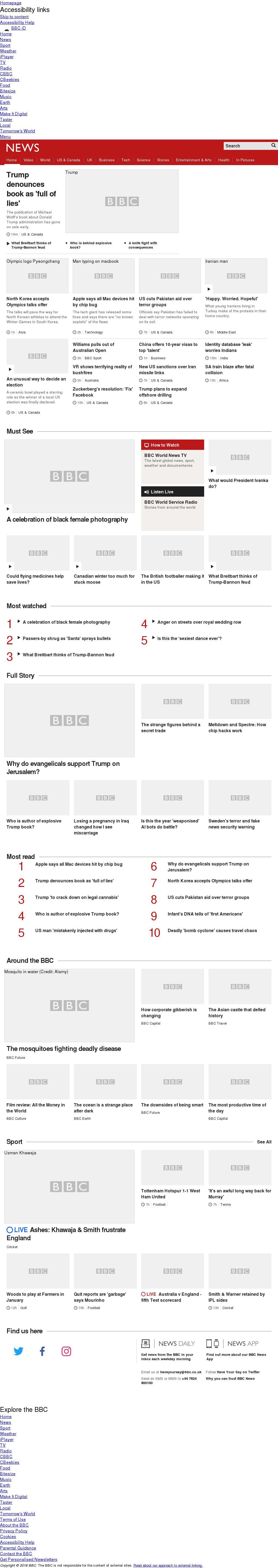 BBC at Friday Jan. 5, 2018, 6 a.m. UTC