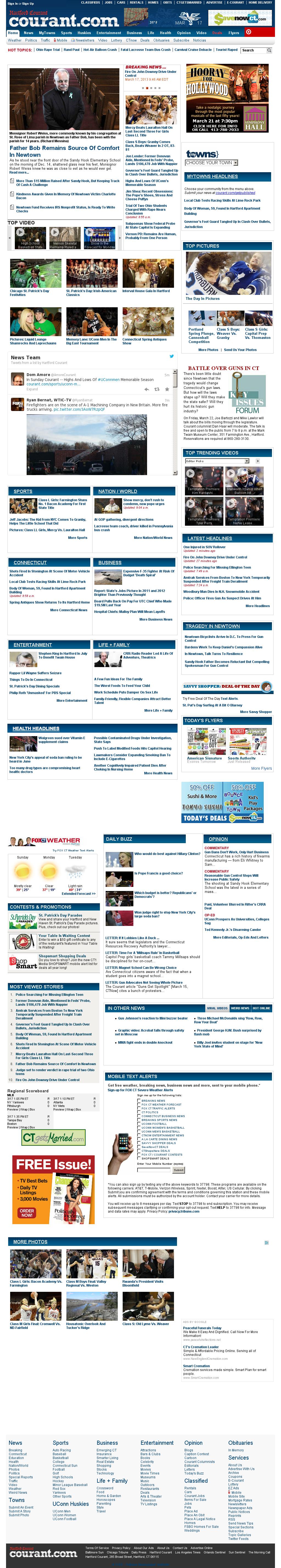 Hartford Courant at Sunday March 17, 2013, 2:12 p.m. UTC