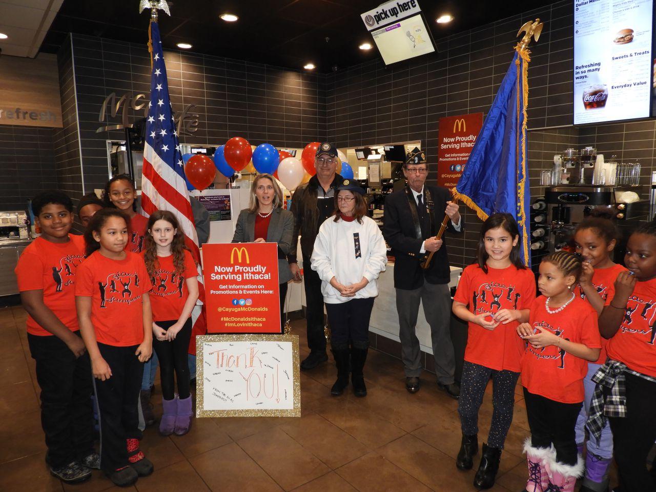 Grand opening at Ithaca McDonald's (photo)